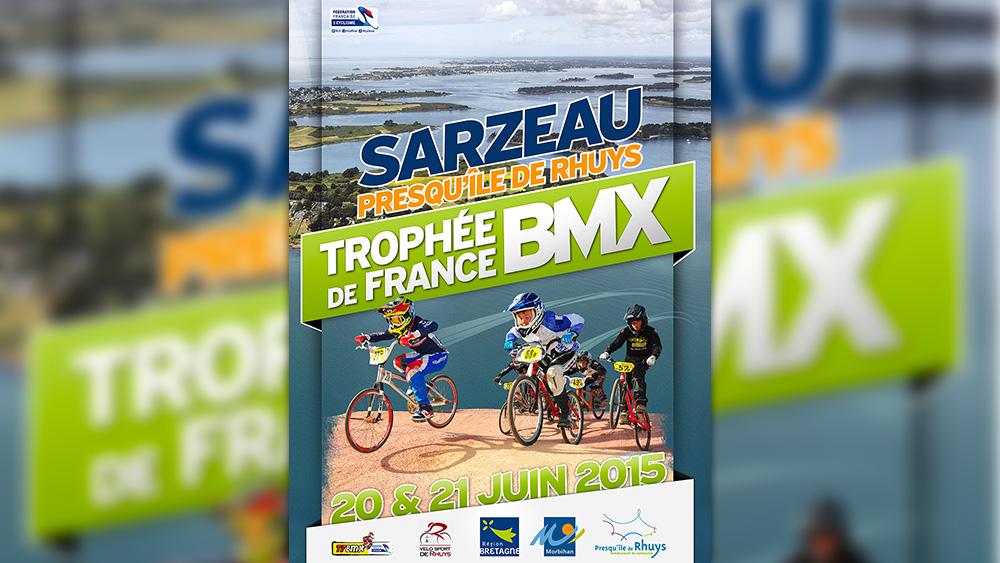 Affiche Trophée de France BMX Sarzeau 2015