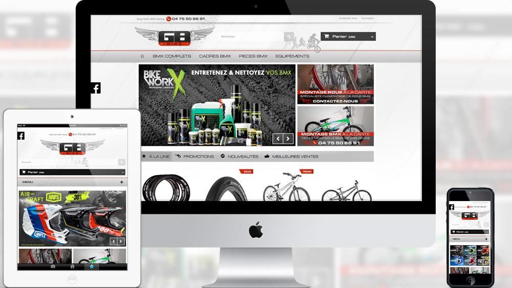 site e-commerce GB BIKE 2016