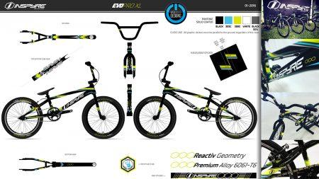 Design produit gamme BMX Inspyre Bicycles