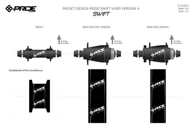 Design produit moyeux Swift